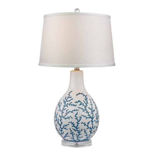 Dimond lighting by Elk D2478 Sixpenny Blue Coral Table Lamp  White