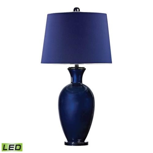 Dimond lighting by Elk D2515-LED Helensburugh Glass LED Table Lamp in Navy Blue