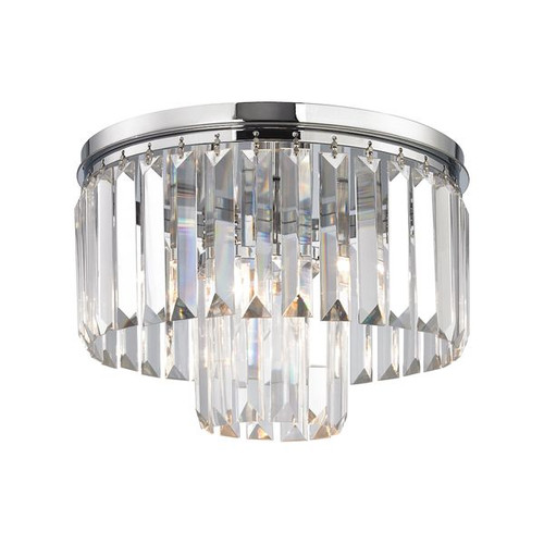 Palacial 1 Light Pendant In Polished Chrome with Clear Crystal by ELK 15213/1