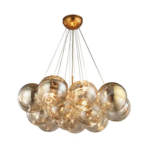Dimond lighting 1140-010 Cielo 3 Light Chandelier In Antique Gold Leaf