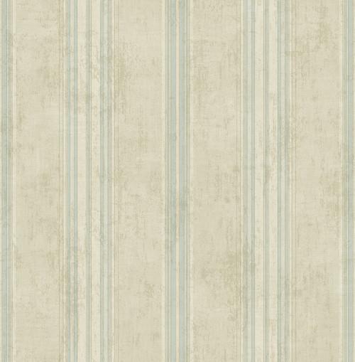 Allure Stripe Wallpaper in Antiqued Blue VA11309 from Wallquest