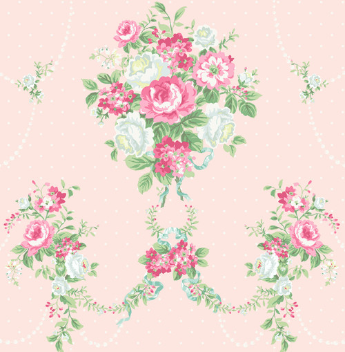 Nosegay Wallpaper in Blush HC80401 from Wallquest