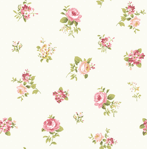 Boutonniere Wallpaper in Blush HC80808 from Wallquest