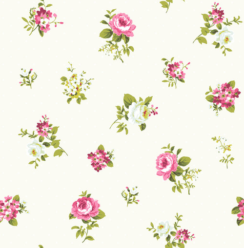 Boutonniere Wallpaper in Fuchsia HC80809 from Wallquest