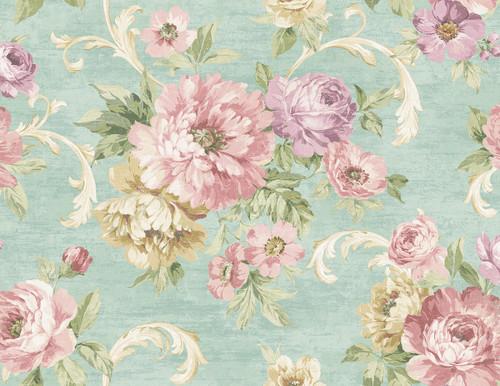 Wispy Flowers Wallpaper in Springtime VA10104 from Wallquest