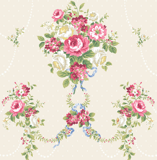 Nosegay Wallpaper in Blush HC80411 from Wallquest