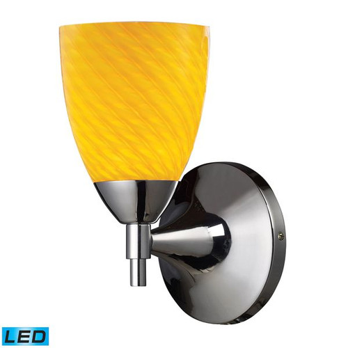 Celina 1 Light LED Sconce In Polished Chrome And Canary by ELK 10150/1PC-CN-LED