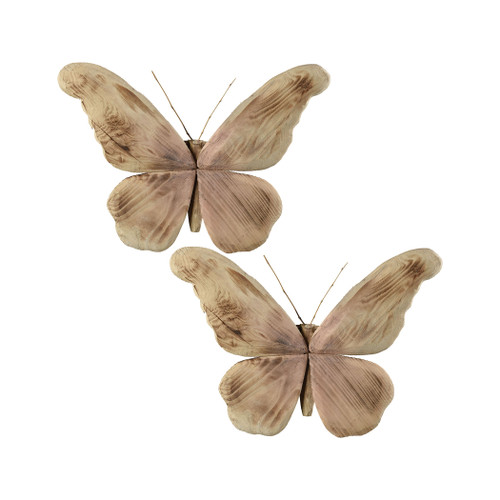 Elk 015441/S2 Pomeroy Pinehurst Set of 2 Butterfiles Natural