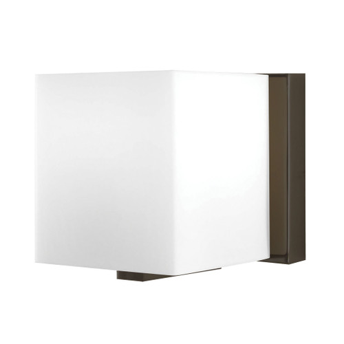 Borg 1 Light Vanity In Oil Rubbed Bronze And White Opal Glass by Elk BV741-10-45