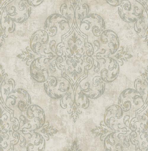 Seabrook wallpaper in Gray, Metallic Gold, Neutrals NE50304