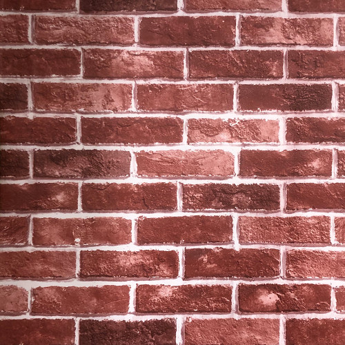 "Grace & Gardenia  GC9634 Commercial Grade Aged Red Brick Peel and Stick Wallpaper Vinyl Self Adhesive Decorative 23.5""x 196"""