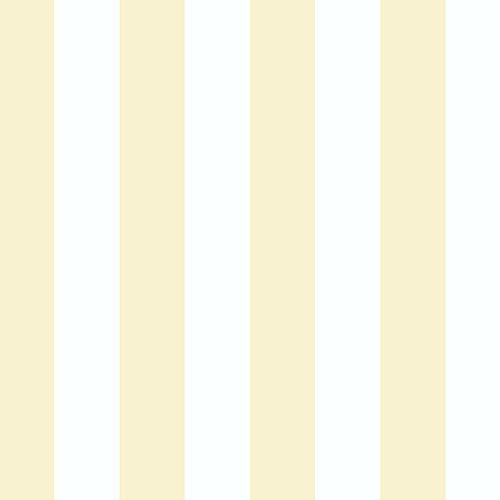 "Norwall Rose Garden 2 RG35702 1.25"" Regency Stripe Wallpaper Yellow"