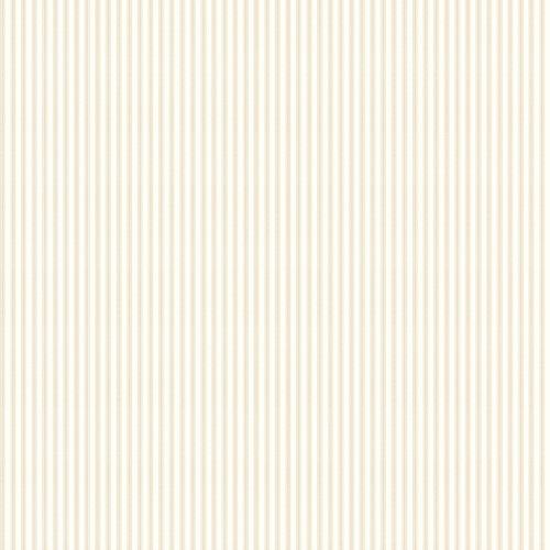 York Wallcoverings Ashford Stripes SA9131 Taffeta Ticking Wallpaper, Brown, White