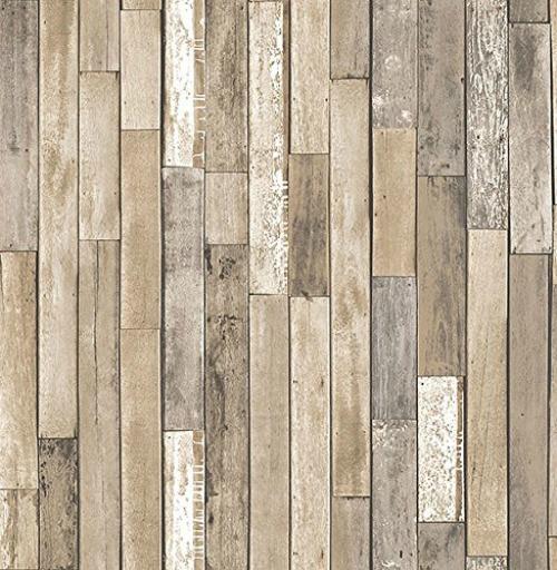 Brewster Wallcovering Co FD23274 Barn Board Brown Thin Plank Wallpaper