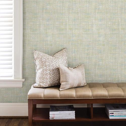 Brewster 2810-IH20030 Advantage Leah Teal Texture Wallpaper Teal