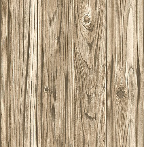 Brewster Wallcovering Co FD23281 Paneling Brown Wide Plank Wallpaper