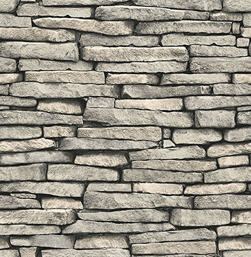 Brewster Wallcovering Co FD23275 Ledge Grey Slate Wall Wallpaper