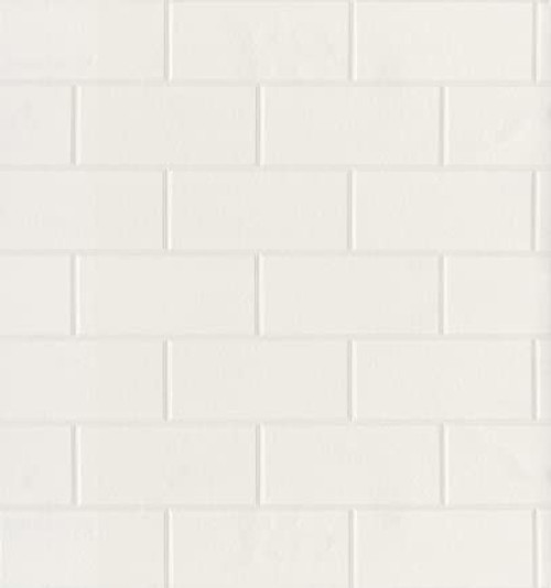 Brewster 2767-21399 Galley Subway Tile Wallpaper, White