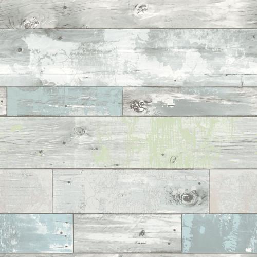 NuWallpaper by Brewster NU1647 Beachwood Peel And Stick Wallpaper