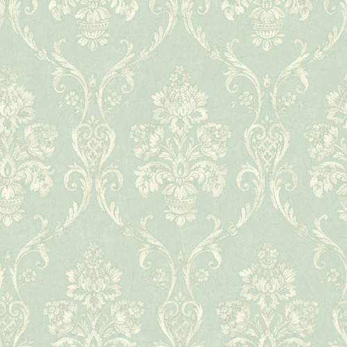 Brewster NL12608 GABRIEL LIGHT BLUE SCROLLING FLORAL URN Wallpaper