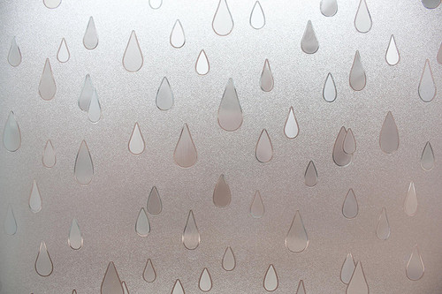 Rain Drops Sidelight Textured Window Film Window Film