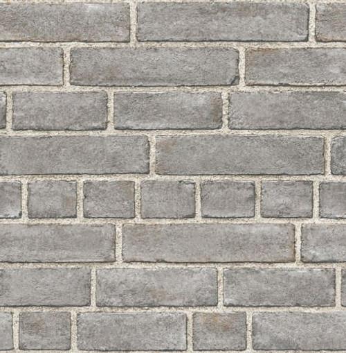 Brewster FD24050 Restored Grey Brickwork Fine Decor Wallpaper