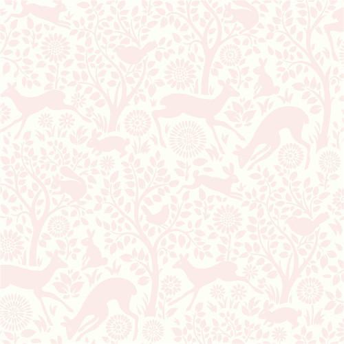Chesapeake HAS01231 Anahi Light Pink Forest Fauna Wallpaper