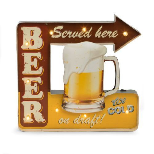 Bey Berk  Beer Served Here Sign LED Lighted battery wall sign