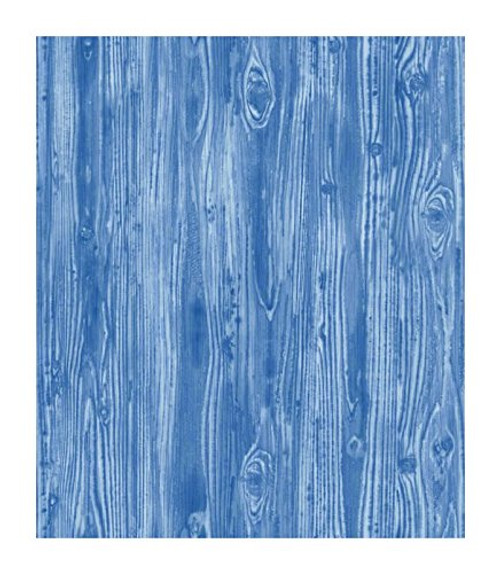 Tempaper WO092 Textured Woodgrain Self-Adhesive Wallpaper, Indigo