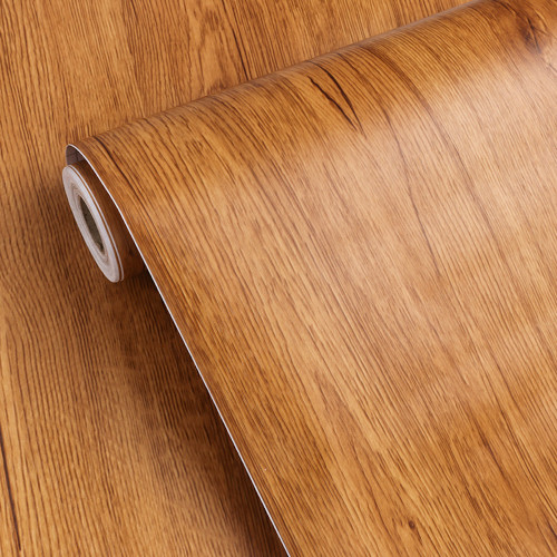 """GC1812 Light Brown Embossed Wood Contact Paper Shelf Liner Commercial Grade Peel and Stick 24"""" wide x 16 ft long Matte finish"""
