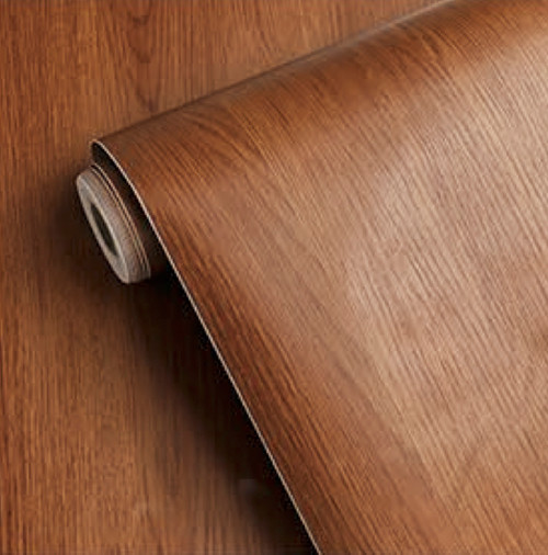 """GC9618 Chestnut Embossed Wood Brown Contact Paper Commercial Grade Peel and Stick 24"""" wide x 16 ft long Matte finish"""