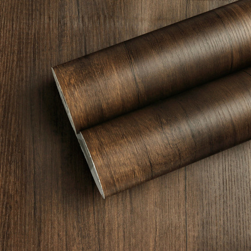 """GC1820 Walnut Embossed Wood Contact Paper Brown Shelf Liner Commercial Grade Peel and Stick 24"""" wide x 16 ft long Matte finish"""
