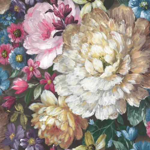 GW2012 Grace & Gardenia Monet's Garden Flowers Peel and Stick Wallpaper multi-colors