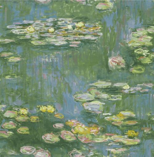 GW2013 Grace & Gardenia Lily Pond Flowers Peel and Stick Wallpaper blue
