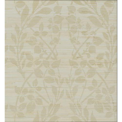 York Wallcoverings Candice Olson Decadence Botanica Organic Wallpaper, Gold metallic/silver metallic/brown