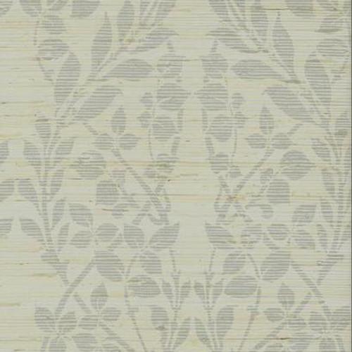 York Wallcoverings Candice Olson Decadence Botanica Organic Wallpaper, Silver metallic/gray