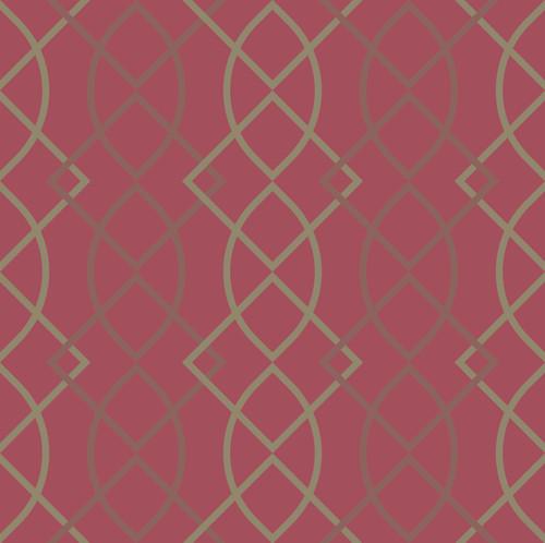 "GP190111 Grace & Gardenia - Ovals and Diamonds Premium Peel and Stick Wallpaper Panel 6 Ft High x 26"" Wide"