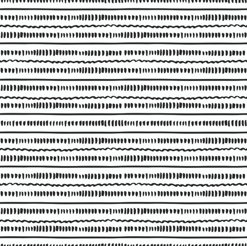 """GP190091 Grace & Gardenia - Black and White Hand Painted Lines Premium Peel and Stick Wallpaper Panel 6 Ft High x 26"""" Wide"""