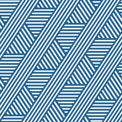 """GP190071 - Blue and White Diagonal Line Pattern Premium Peel and Stick Wallpaper Panel 9 Ft High x 26"""" Wide"""