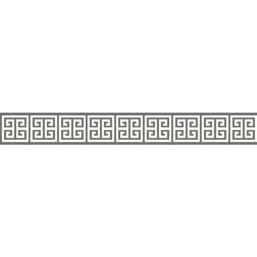 York Wallcoverings BP8214BD Border Portfolio Ii Meander Border Gray/Off-White