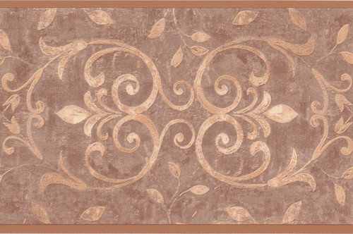 St. James / York  WK2236B Antique Scroll Wallpaper Border, Sandy Beige