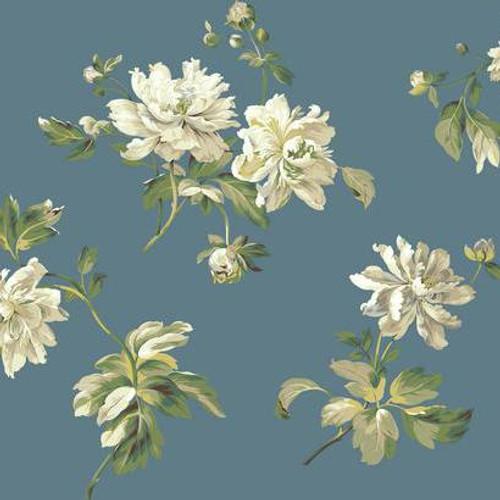 York Wallcoverings Marquis PR9106 Wallpaper Green/ White