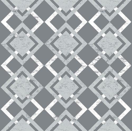 "GP190023 Grace & Gardenia Faded Diamonds on Gray Premium Peel and Stick Wallpaper Panel 6 Ft High x 26"" Wide"