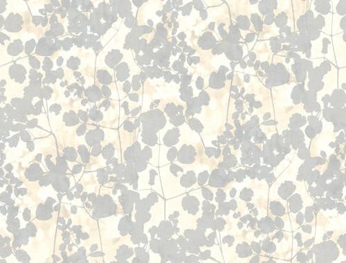 York Wallcoverings NA0520 Pressed Leaves Wallpaper Cream