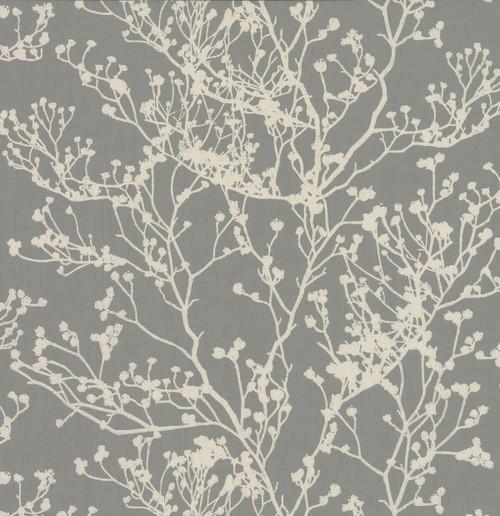York Wallcoverings HC7518 Budding Branch Silhouette Wallpaper Brown
