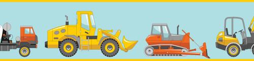 GP1900291 Trucks and Tractors Premium Peel and Stick Wallpaper Border