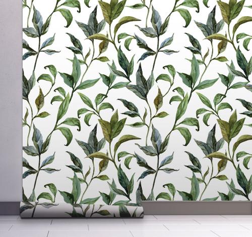 GP1900231 Curling Leaves Wallpaper