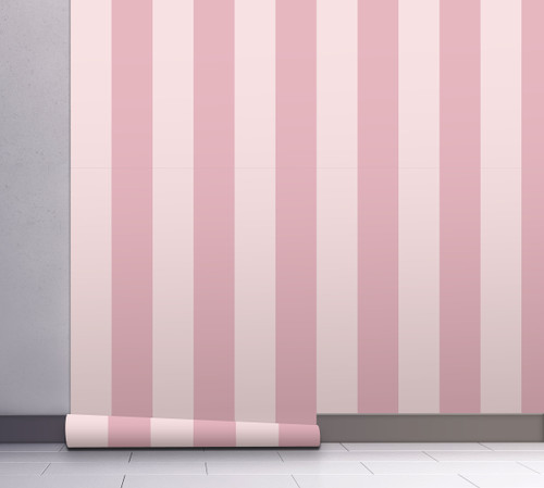 GP1900272 Pink Striped Wallpaper