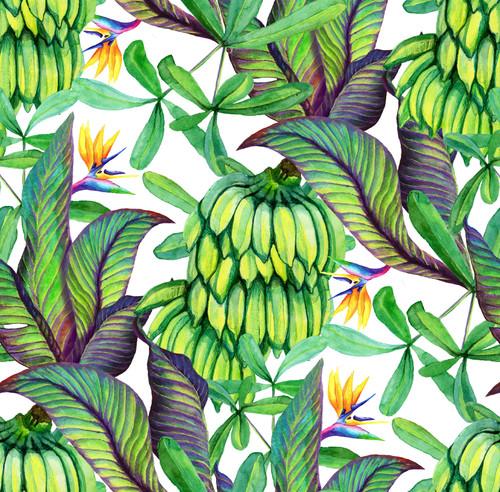GP1900341 Banana Leaves Premium Peel and Stick Wallpaper Panel