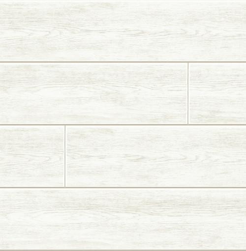 GW1002D - White Shiplap Peel & Stick Wallpaper